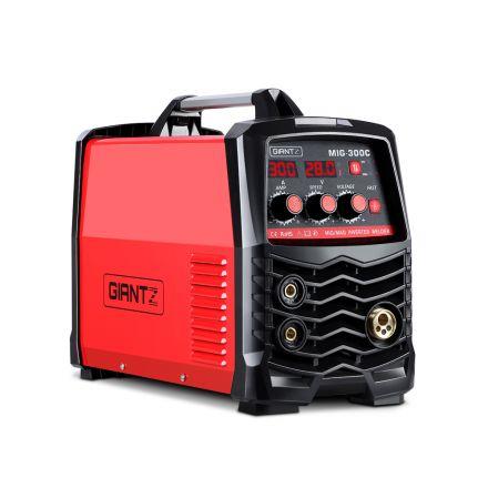 Giantz Inverter Welder Machine Dc Mig Mag Mma Gas Gasless Welding Portable 300amp