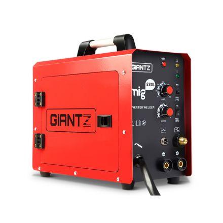 Giantz Mig Mag Welding Machine Dc Inverter Mma Welder Gas Gasless Portable 220a