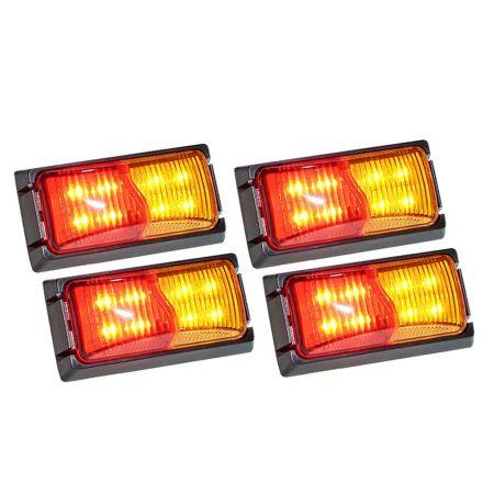 4x Lightfox Led Side Marker Amber Red Indicator Trailer Clearance Lights