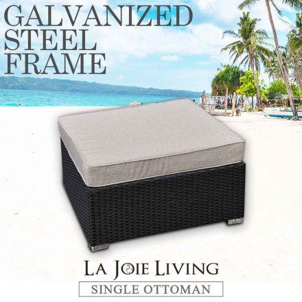 La Joie Outdoor Living Single Modular Ottoman Rattan Furniture Lounge