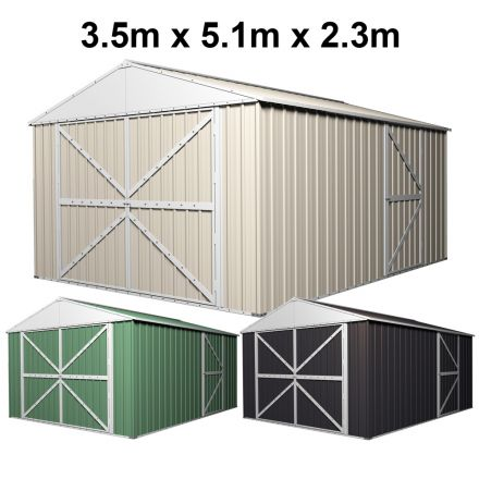 Garage Shed Workshop 3.5m x 5.1m x 2.3m