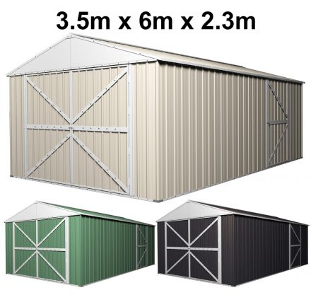 Double Barn Door Garage Shed 3.5m x 6m x 2.3m