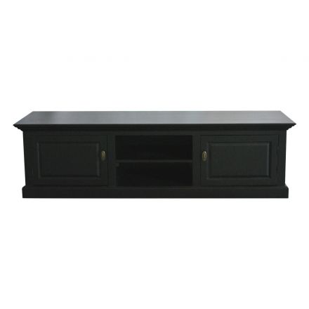 Hamptons Halifax Black TV Unit Entertainment Stand