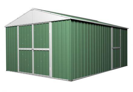 Garden Shed 3.6m x 4.3m x 2.3m Workshop Rivergum Green CLEARANCE
