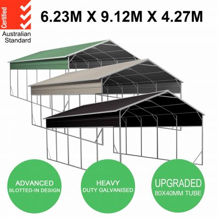 Carport 6.23m x 9.12m x 4.27m Vehicle Shelter