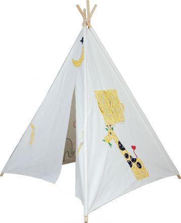 Large Cotton Canvas Animal Teepee Kid Tent Indoor Playhouse Wigwarm