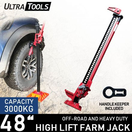 """High Lift 48"""" Farm Jack with handle keeper Ultra Tools Heavy Duty 4WD"""
