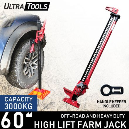 "High Lift 60"" Farm Jack with handle keeper Ultra Tools Heavy Duty 4WD"