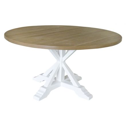 Hamptons Round Trestle Dining Table