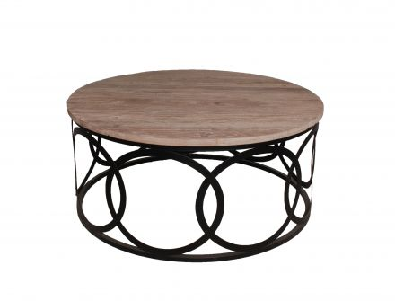 Detroit Industrial Round Coffee Table