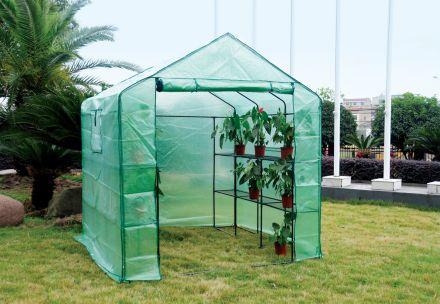 Eco Pro 200x200x200cm Walk in Tunnel Greenhouse PE Cover Tomato Plant Garden Green Shade