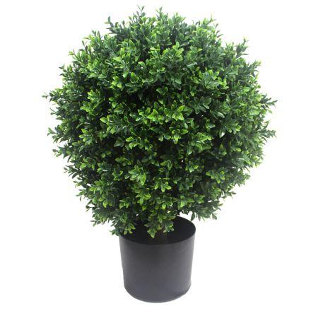 Uv Resistant Artificial Topiary Shrub (hedyotis) 70cm Mixed Green