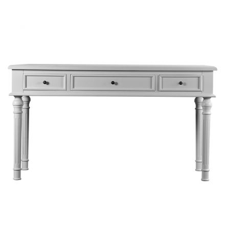 French Provincial Antoinette White Study Desk Dressing table with Drawers