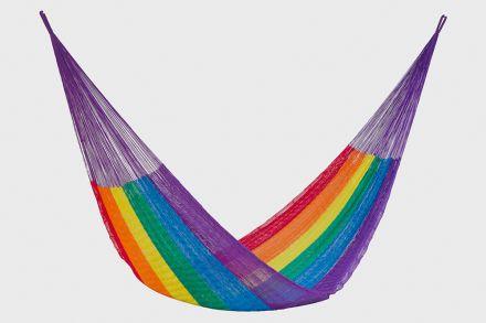 King Nylon Plus Hammock In Rainbow