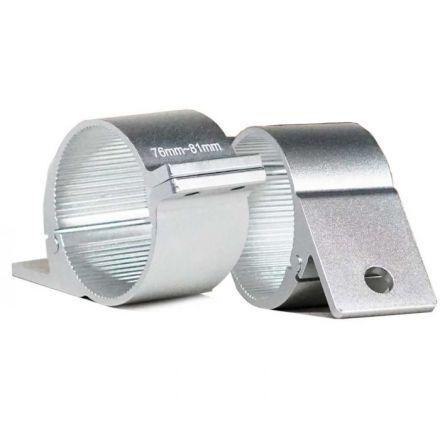 Pair Silver Bullbar Mounting Bracket Clamp 76-81mm For Led Light Bar Hid Arb