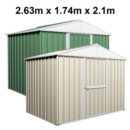 Garden Shed 2.63m x 1.74m x 2.1m Gable Roof