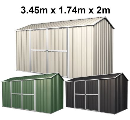 Garden Shed 3.45m x 1.74m x 2m Gable Roof