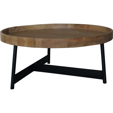 Detroit Industrial Old Elm Disc Coffee table With Iron Base