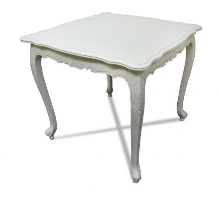 French Provincial Furniture Classic Hall Pedestal Hall Side Table in White