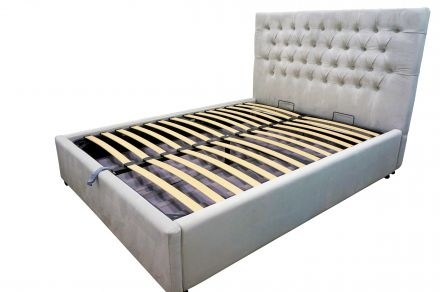 Georgia Queen GAS LIFT Button Tufted Chesterfield Storage Bed Frame