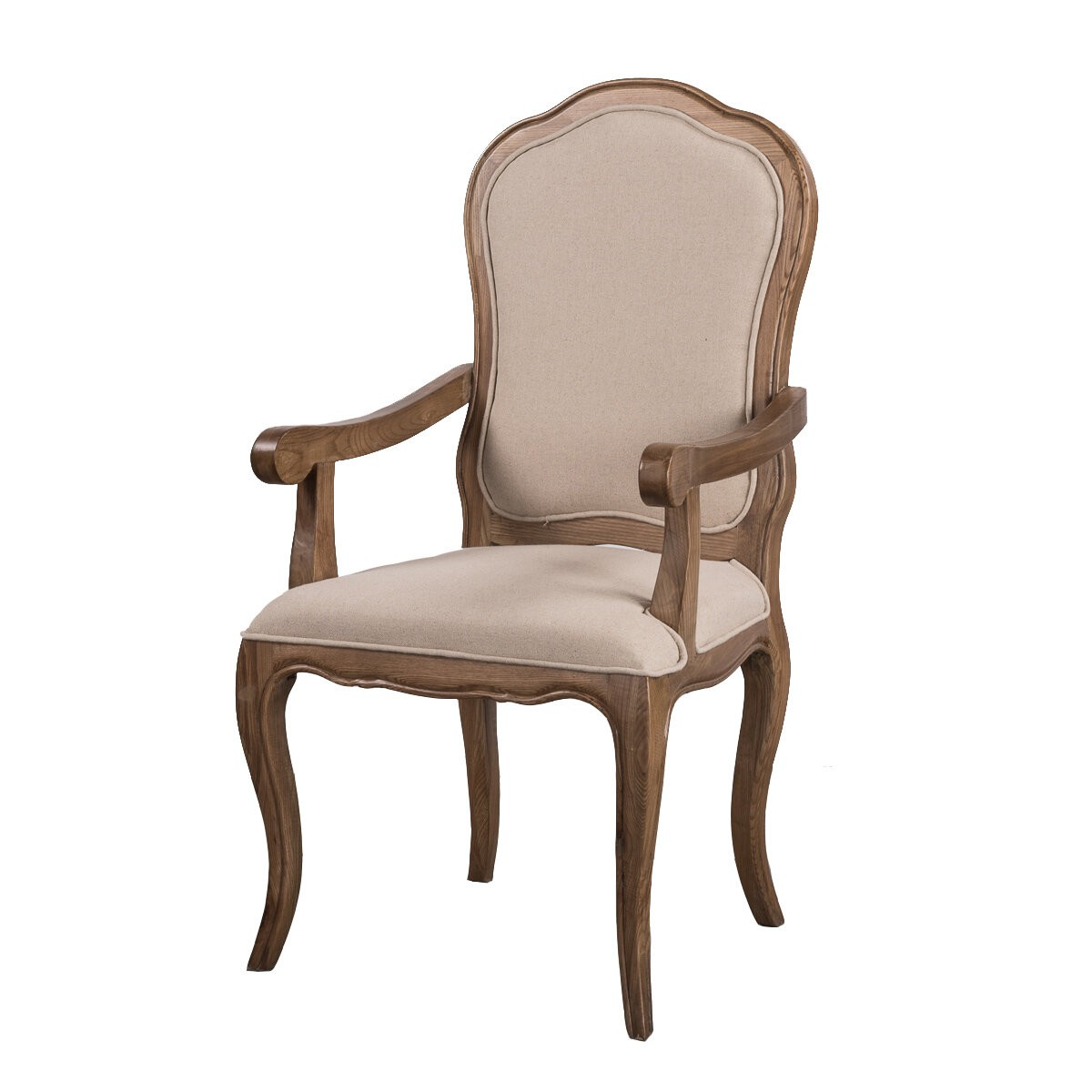 Oak Chairs With Arms ~ French provincial furniture natural oak dining arm chair