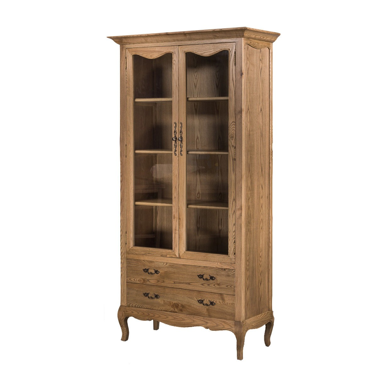 french provincial cabinet provincial furniture display cabinet in oak 1105