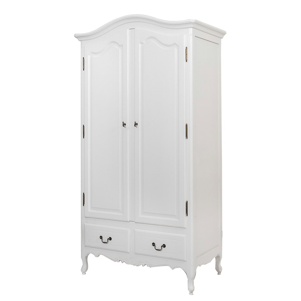 french provincial furniture wardrobe with drawers in white - White Wardrobe