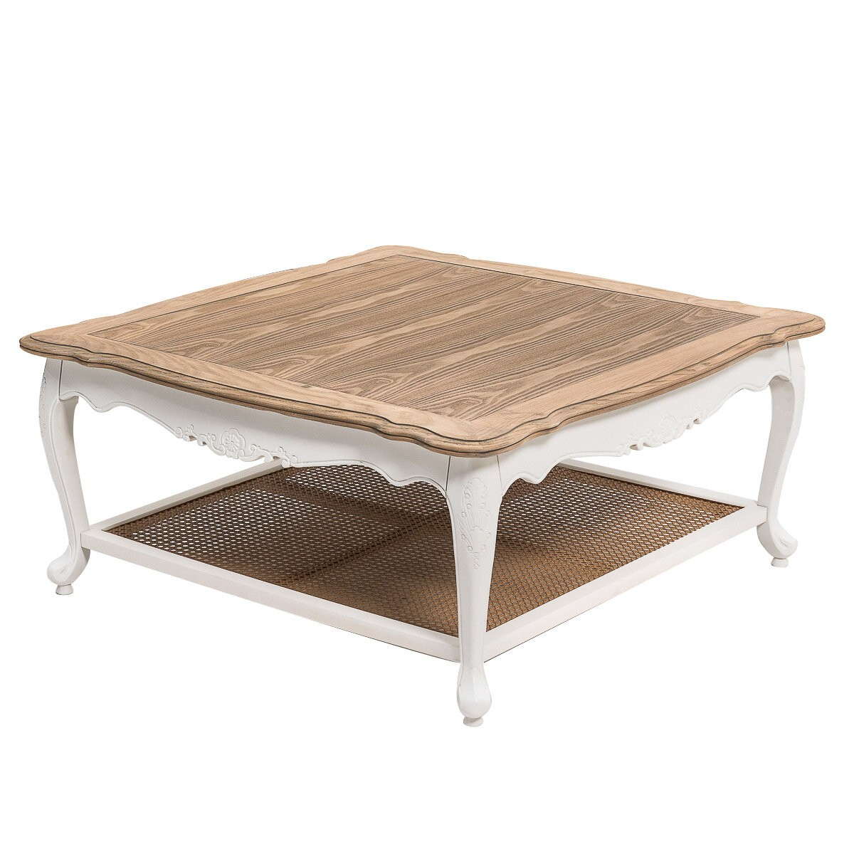 French Provincial Furniture Square Coffee & Tea Table In