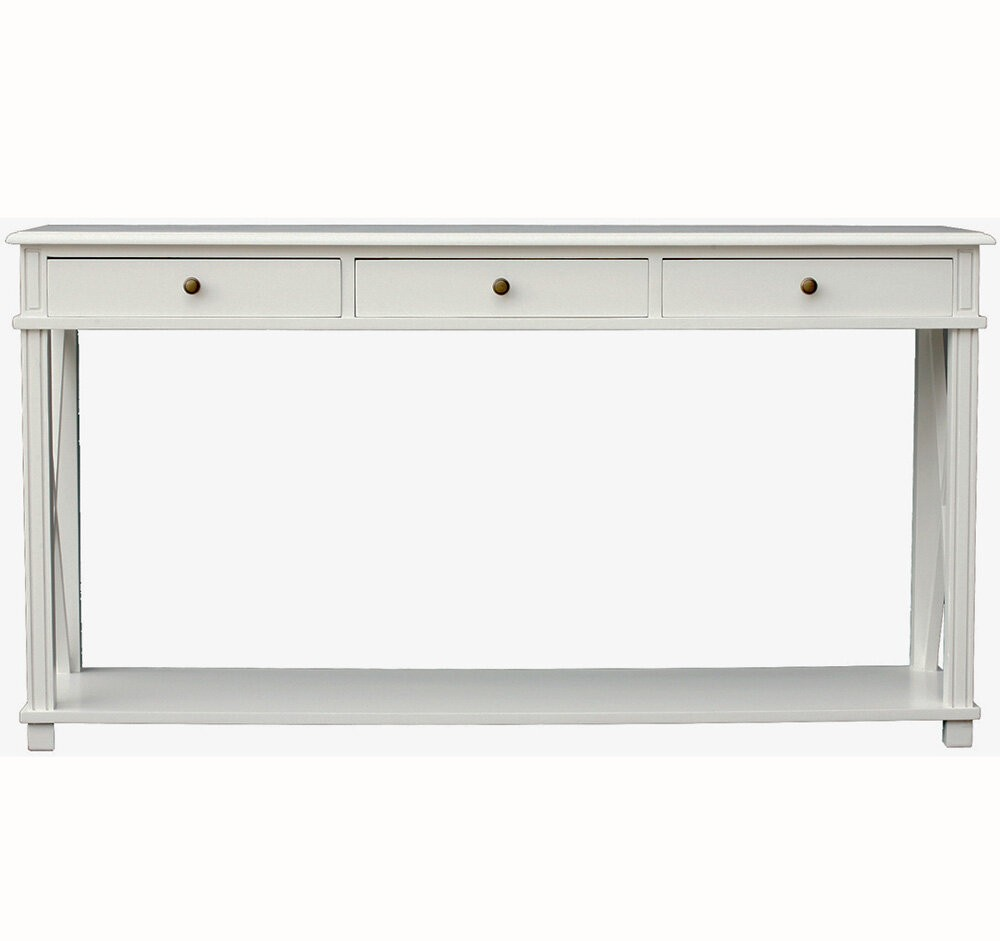 hall table white. Hamptons Halifax Side Cross 3 Drawers Console Hall Table Furniture In White I