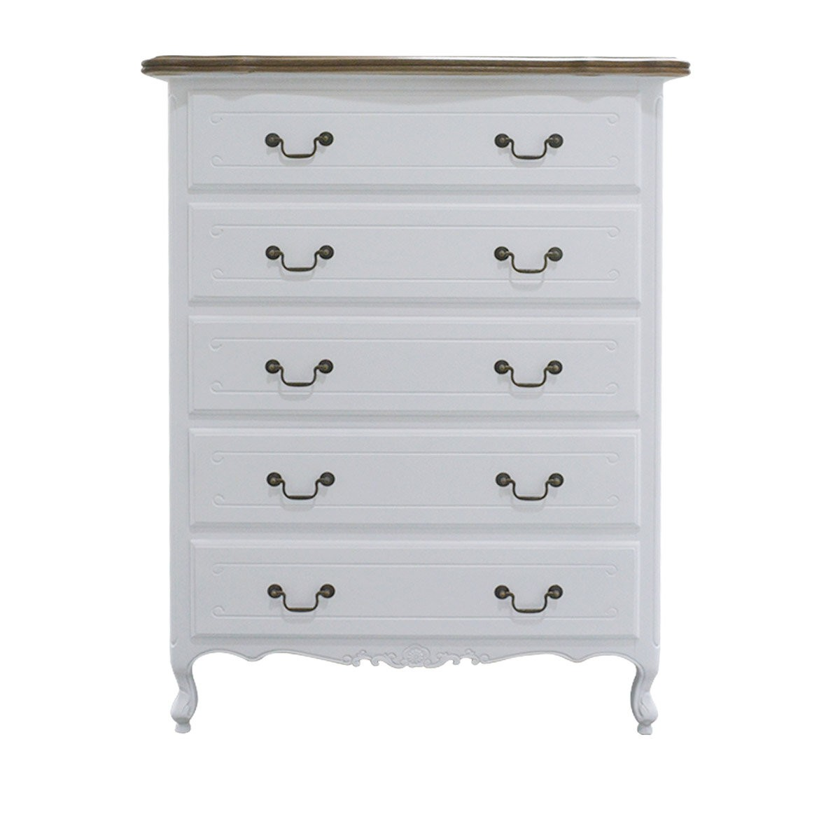 French Provincial Furniture 5 Chest Of Drawers Tallboy Cabinet In