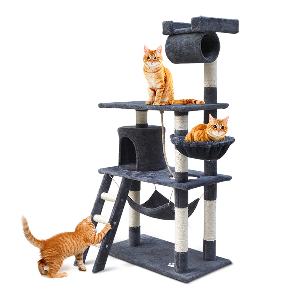 Shop Cat Scratching Post Tree House Condo 141cm Grey Online Wholesales Direct