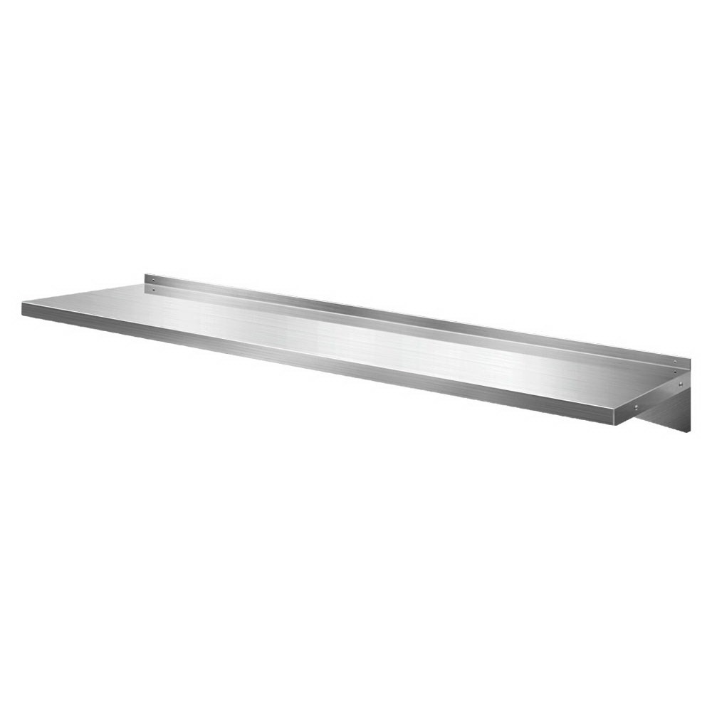 Shop Stainless Steel Wall Shelf Kitchen Shelves Rack Mounted Display Shelving 2100mm Online Wholesales Direct