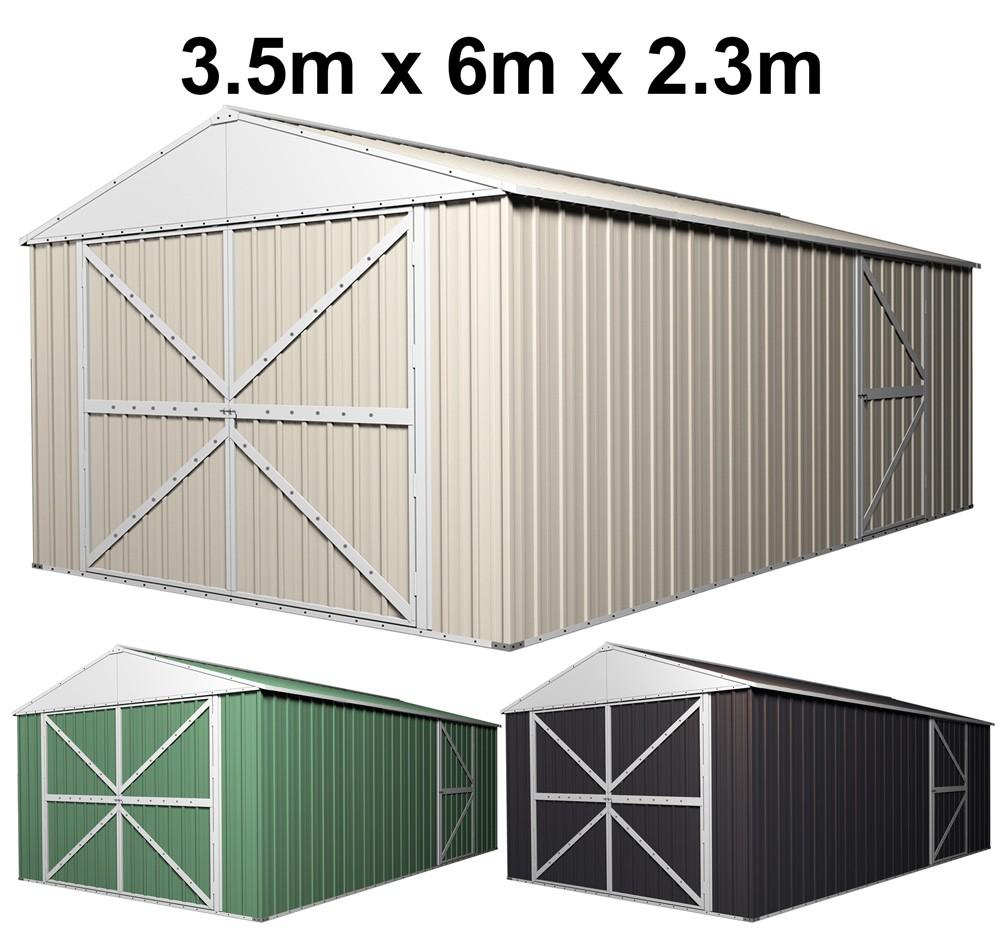 double barn door garage shed 35m x 6m x 23m - Garden Sheds 5m X 3m
