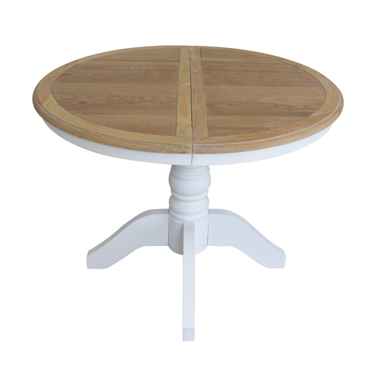 French Provincial Classic White Extendable Round Dining