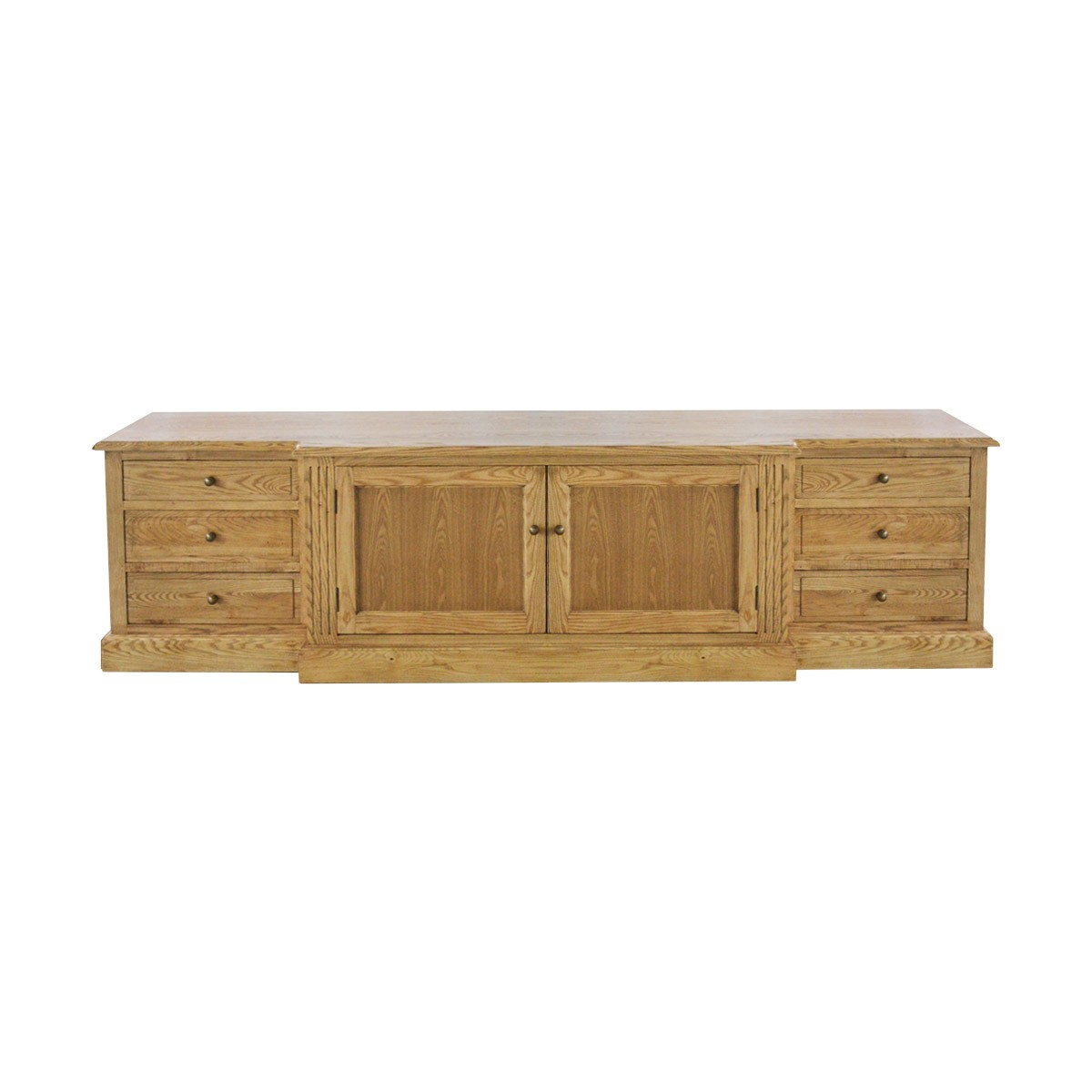 French Provincial Hamptons Large TV Entertainment Unit Stand With Drawers