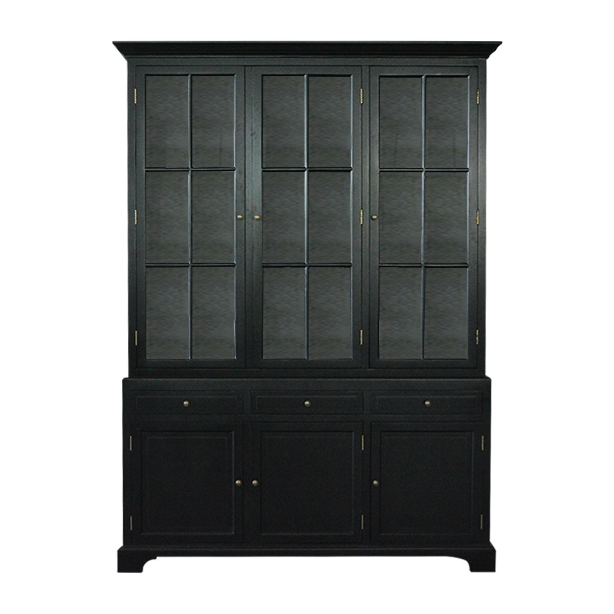 Picture of: French Provincial Hamptons Buffet And Hutch Glass Display Cabinet White Or Black Furniture Wholesales Direct