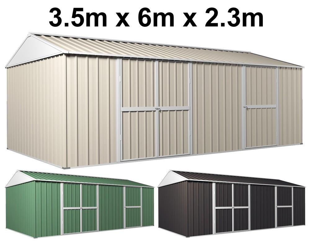 garden shed 35m x 6m x 23m workshop side double doors pa door