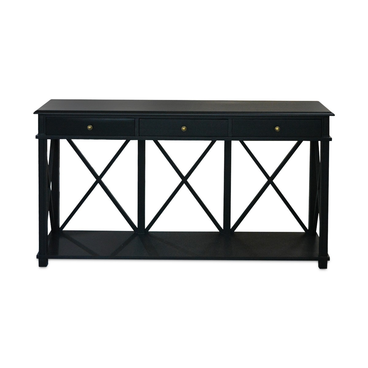 official photos c331f b223e Hamptons Halifax Side Back Cross 3 Drawers Console Hall Table Furniture