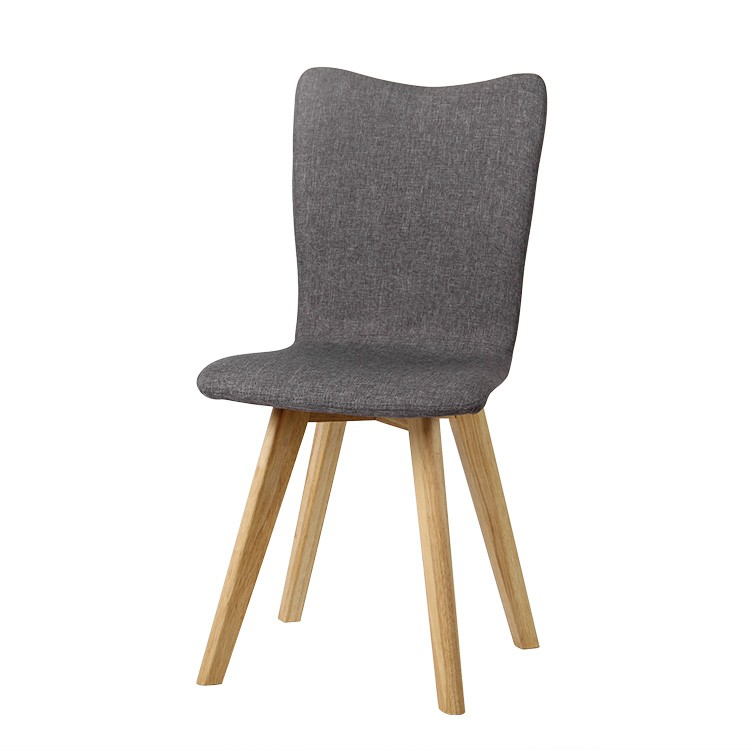 check out 62acb 7e302 Fyn Set of 2 Upholstered Modern Fabric Dining Chairs - Grey Blue Cream