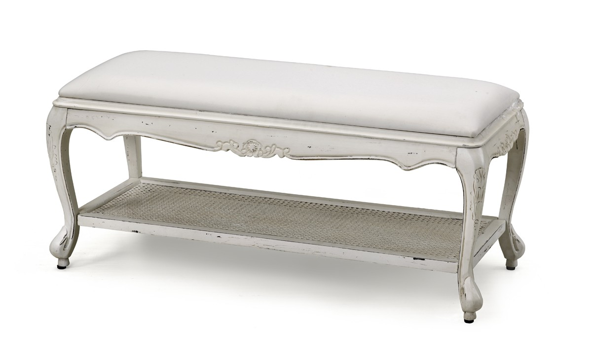 French Provincial Classic White Bed End Stool  sc 1 st  Wholesales Direct : stool at end of bed - islam-shia.org