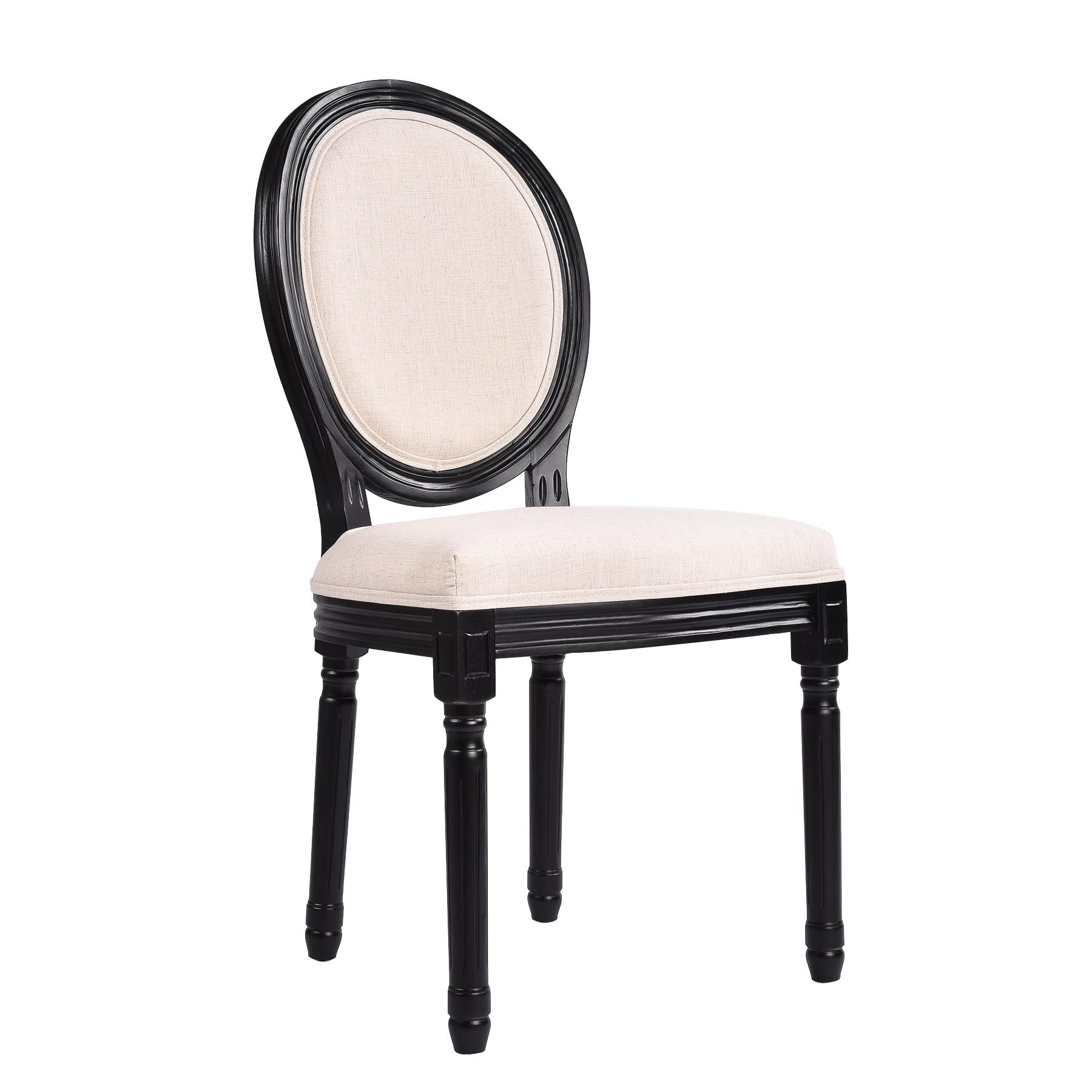 Peachy Louis Dining Chair Set Of 2 French Provincial Upholstered White Black Washed Oak Ibusinesslaw Wood Chair Design Ideas Ibusinesslaworg