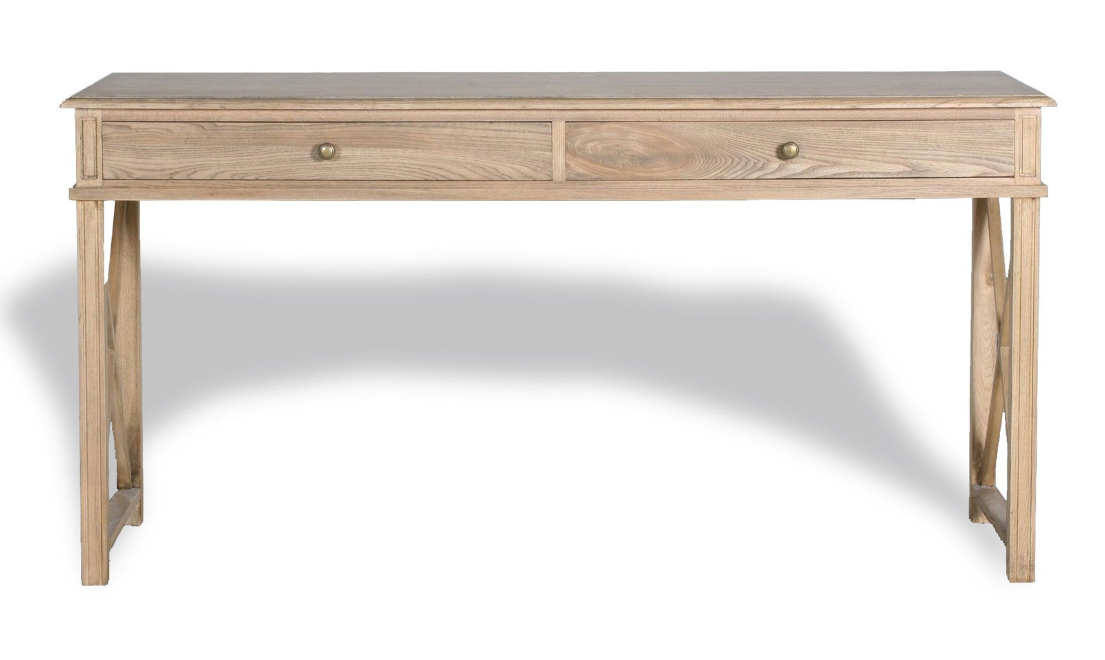 best sneakers a1959 7bfdb Hamptons Halifax Side Cross Console Hall Table/ Study Desk in Natural Oak