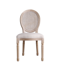 Louis Rattan Dining Chair Set of 2 French Provincial Upholstered Washed Oak