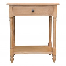 French Provincial Country Bedside Lamp Table Nightstand - Front Side View