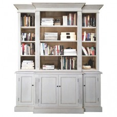 Hamptons Buffet and Hutch Furniture Bookcase Cabinet