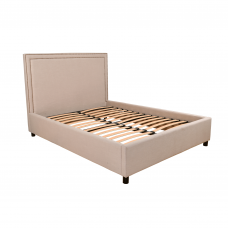 Maddy Upholstered Studded Square Bed Frame King Size