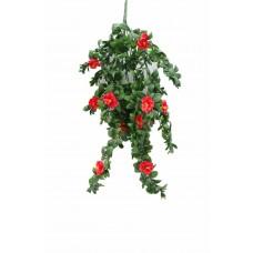 Hanging Red Rose Stem Uv 85cm