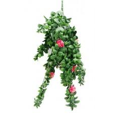 Hanging Pink Rose Stem Uv 85cm