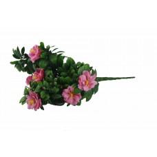 Pink Rose Bunch Uv 45cm