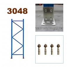 Pallet Racking Upright Frame 3048mm